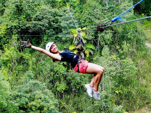 Zip lining – 10 cables